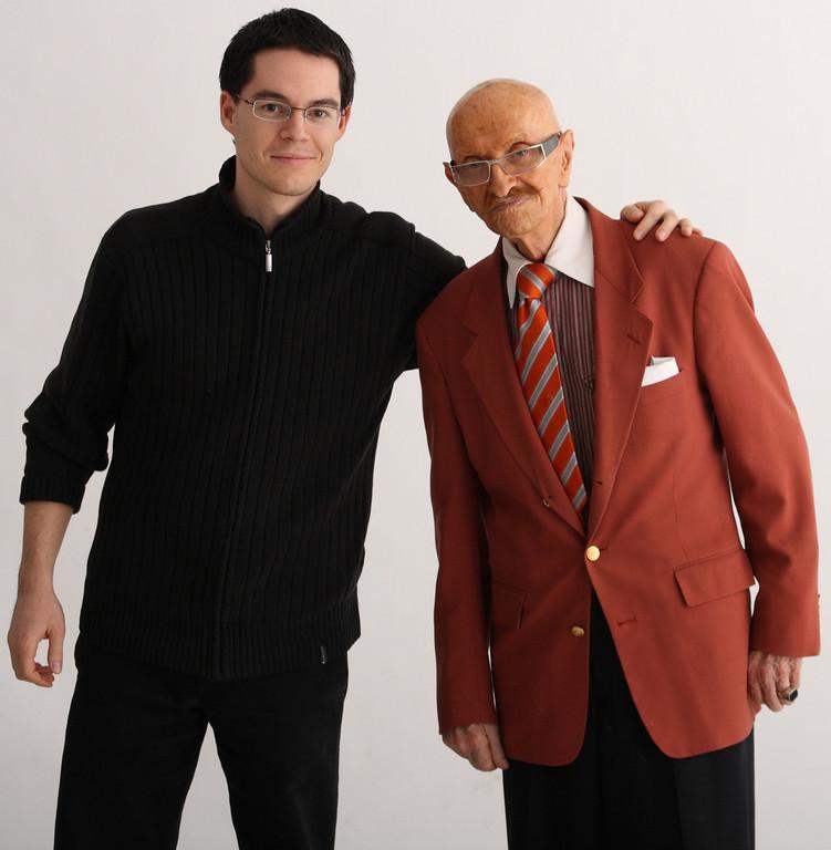 With portrait photographer legend Martin Szipál.