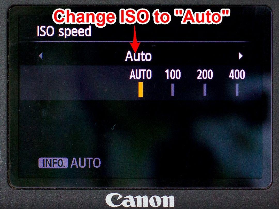 Canon Auto ISO set