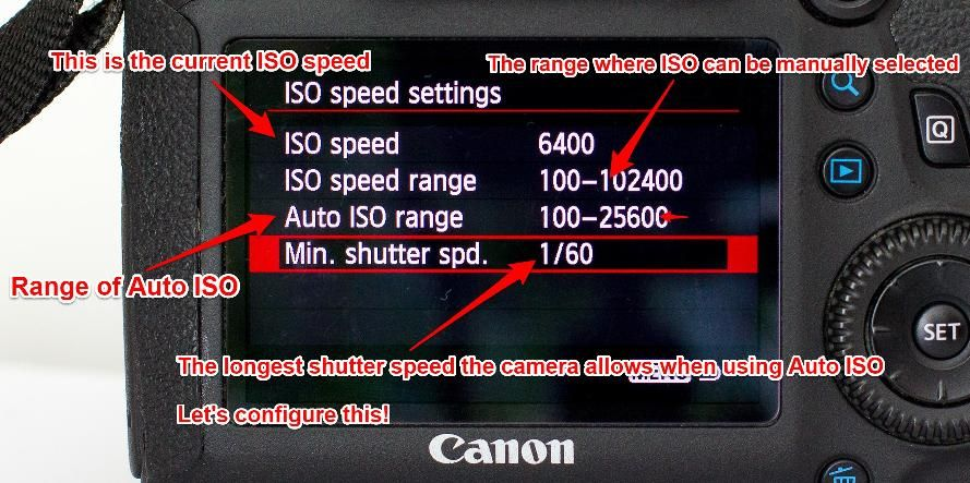 Canon 6D ISO speed settings detailed
