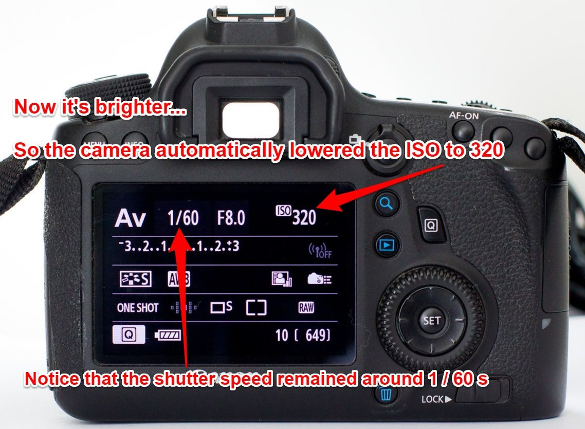 Using Auto ISO on Canon 6D - camera adjusts ISO