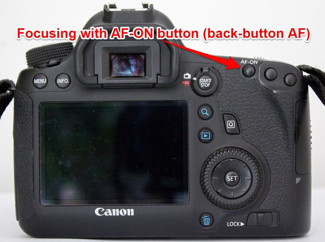 Canon 6D back button AF