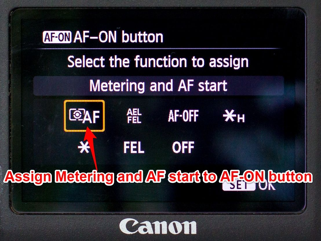 Canon 6D AF-ON button set up 2