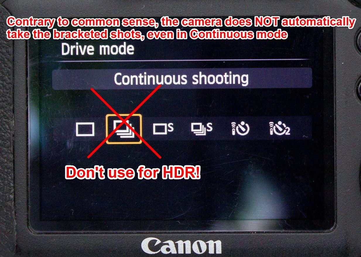 Canon 6D continuous drive