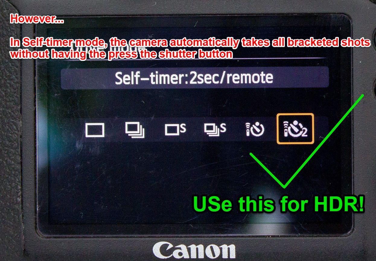 Canon 6D self-timer 2 sec
