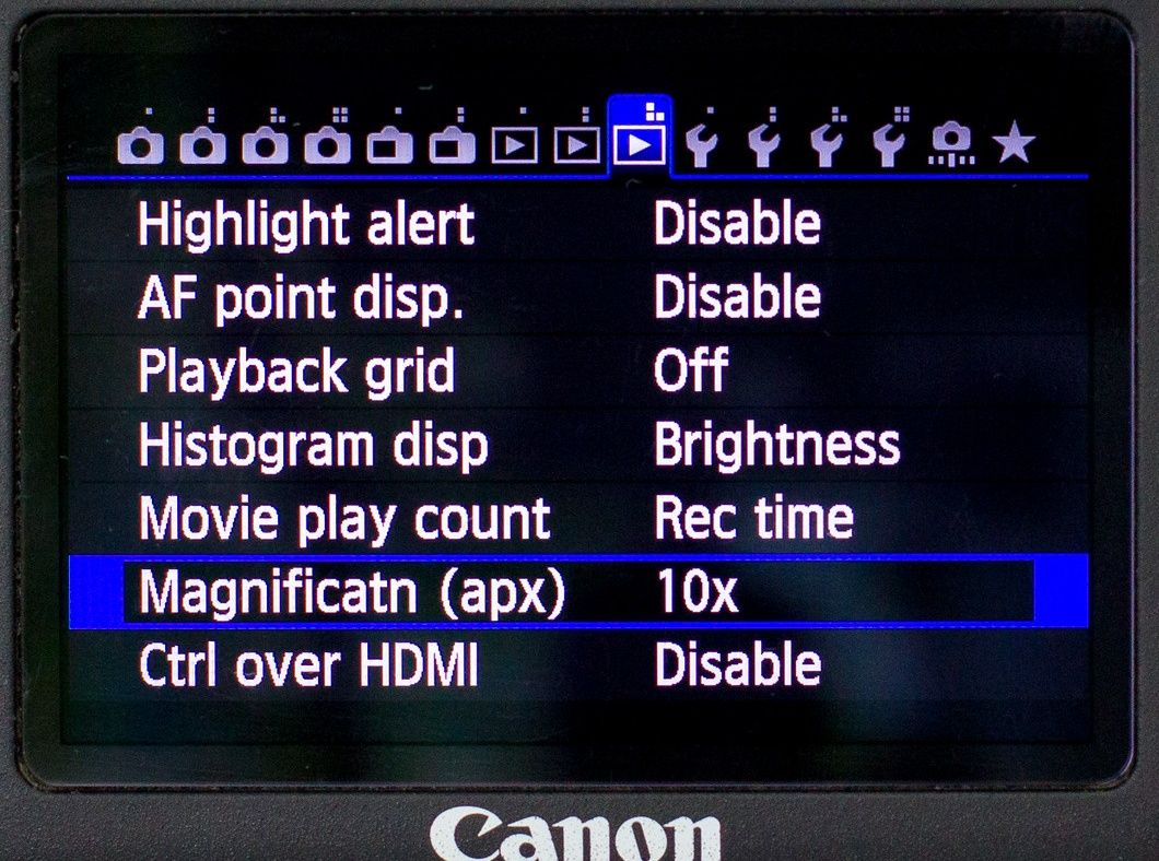 Canon 6D customize magnify button