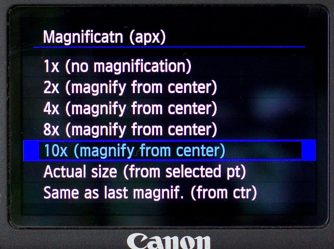 Canon customize magnify button