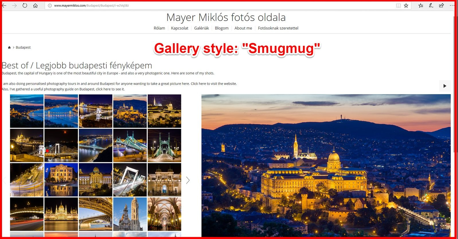 Smugmug style galleries