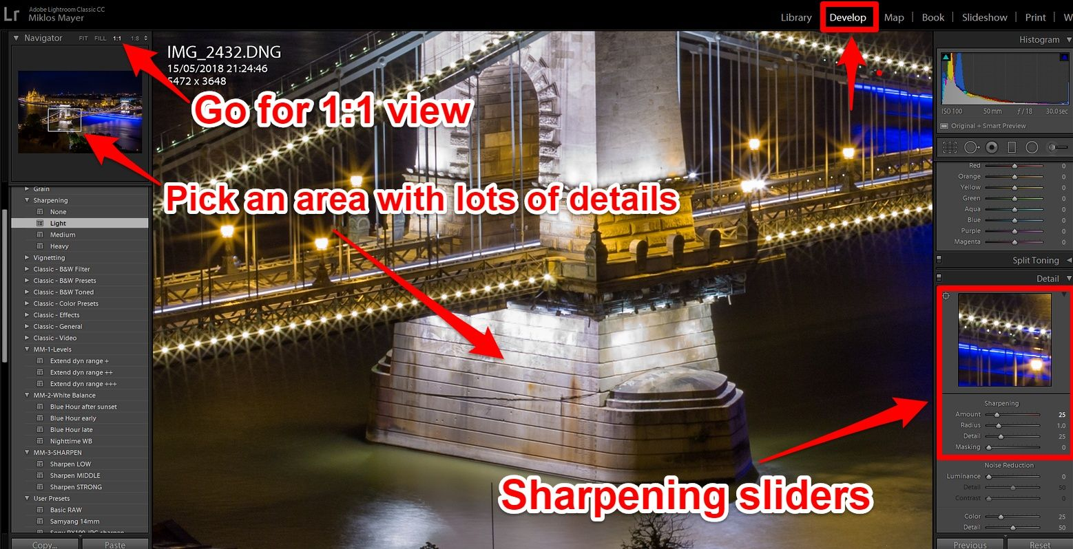 Lightroom advanced sharpening