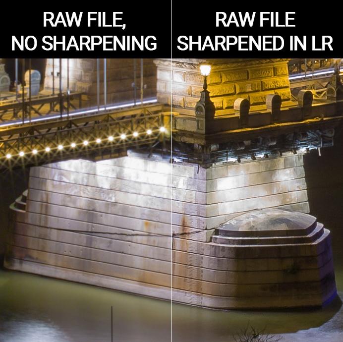 RAW file Sharpening comparison Lightroom
