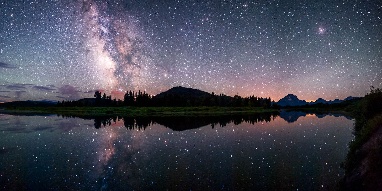 Milky Way reflecting in Snake River