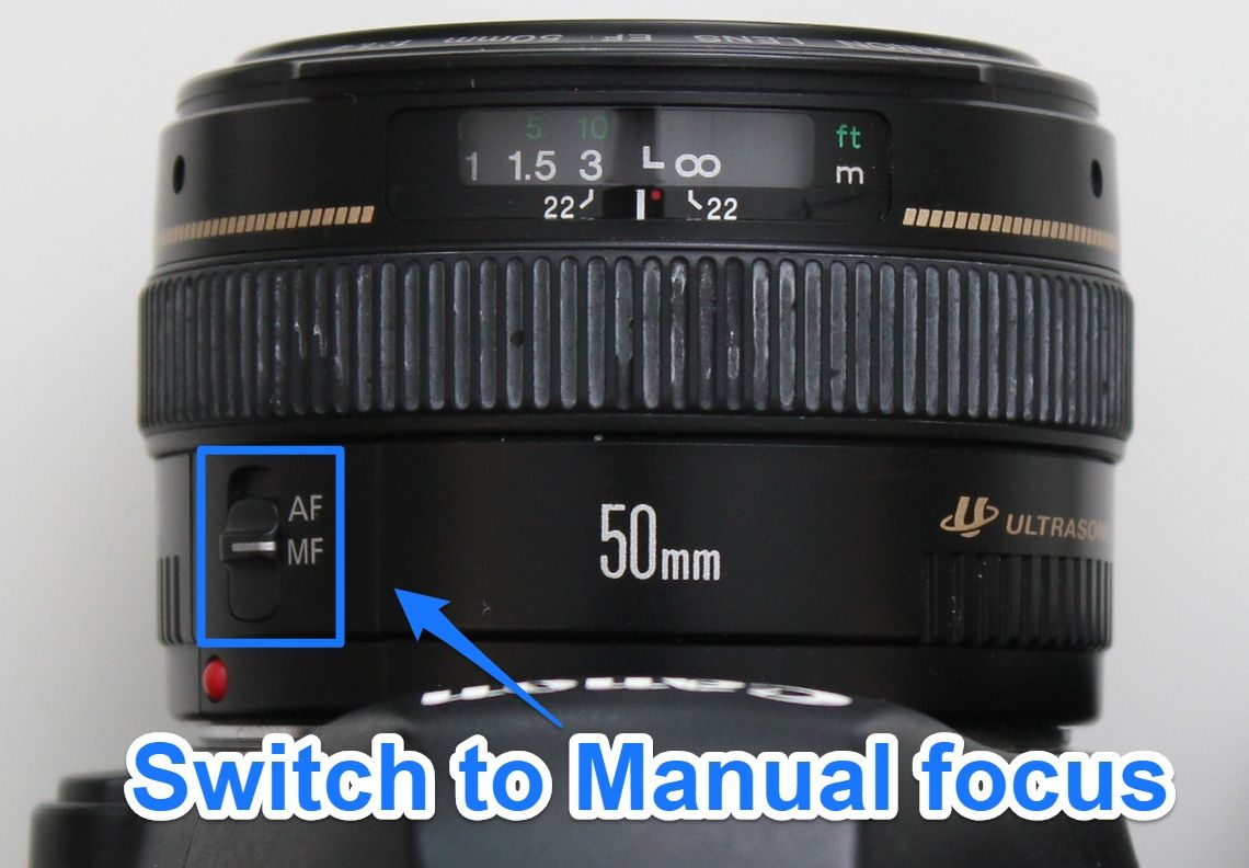 Switch to manual focus