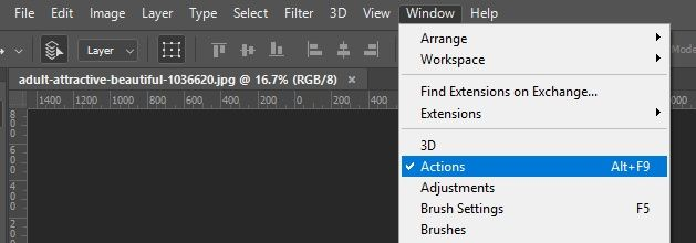 Action Window in Photoshop