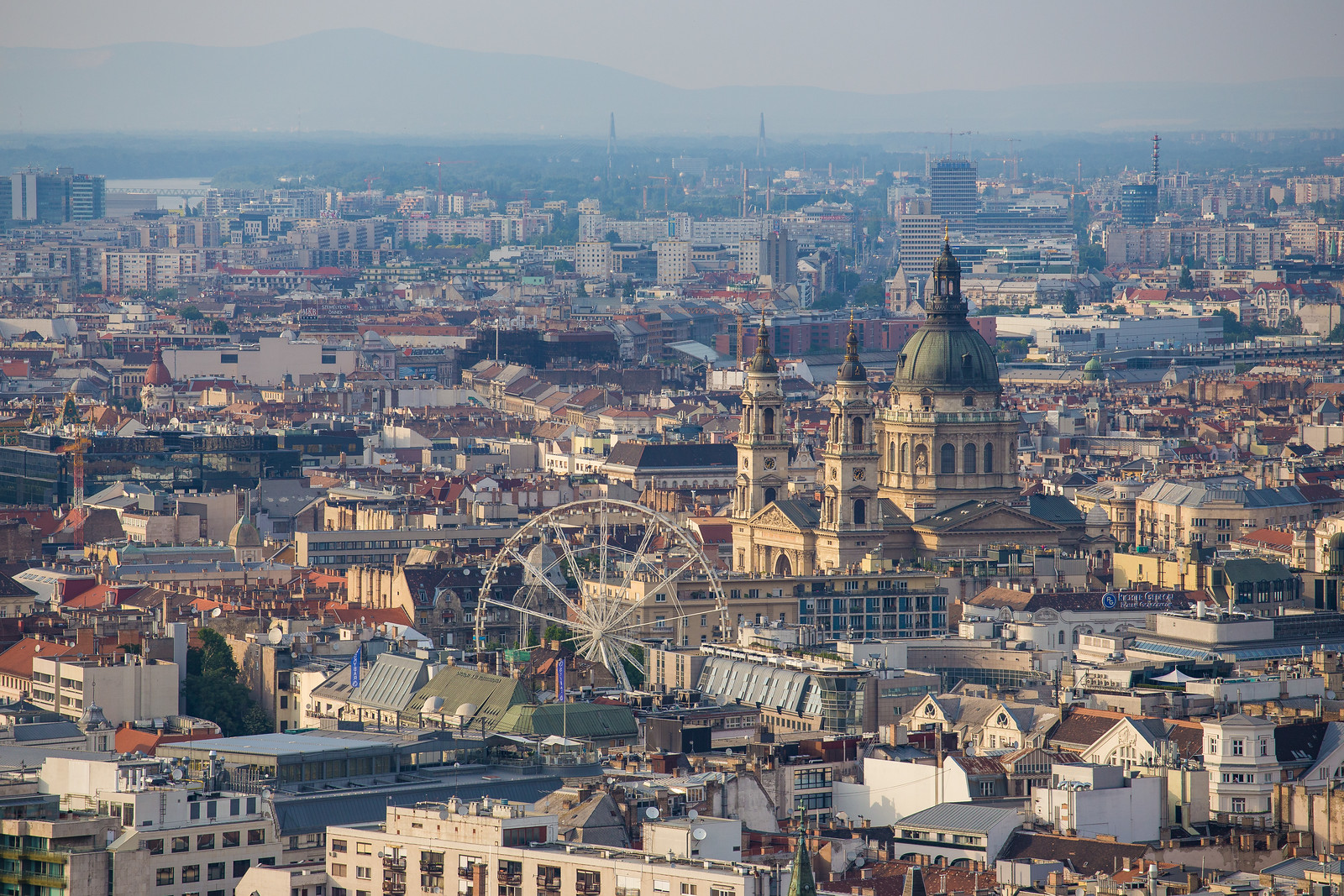 St Stephens Basilica Marriott and Skybar frrom Citadel daytime
