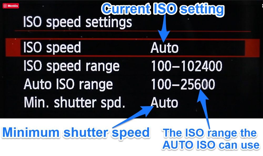 Auto ISO settings on Canon 6D
