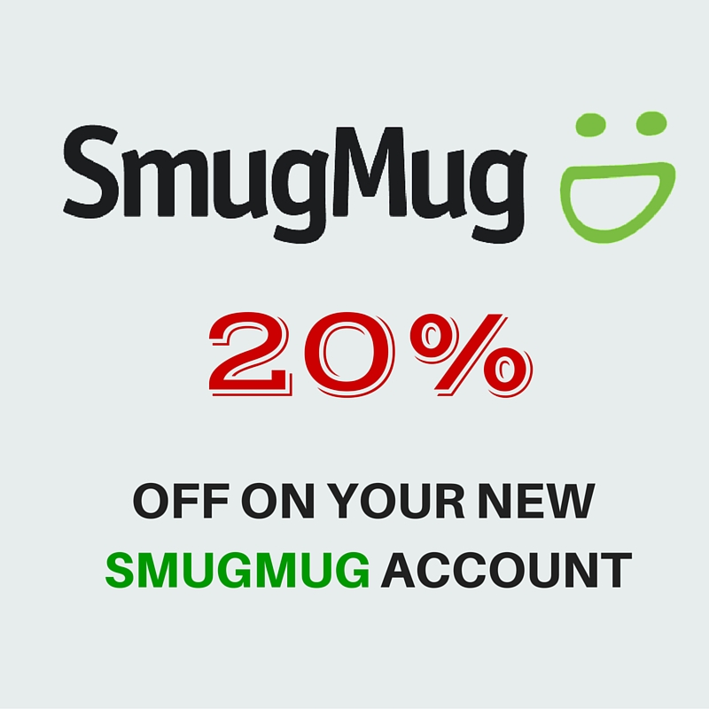 20% coupon on Smugmug.com