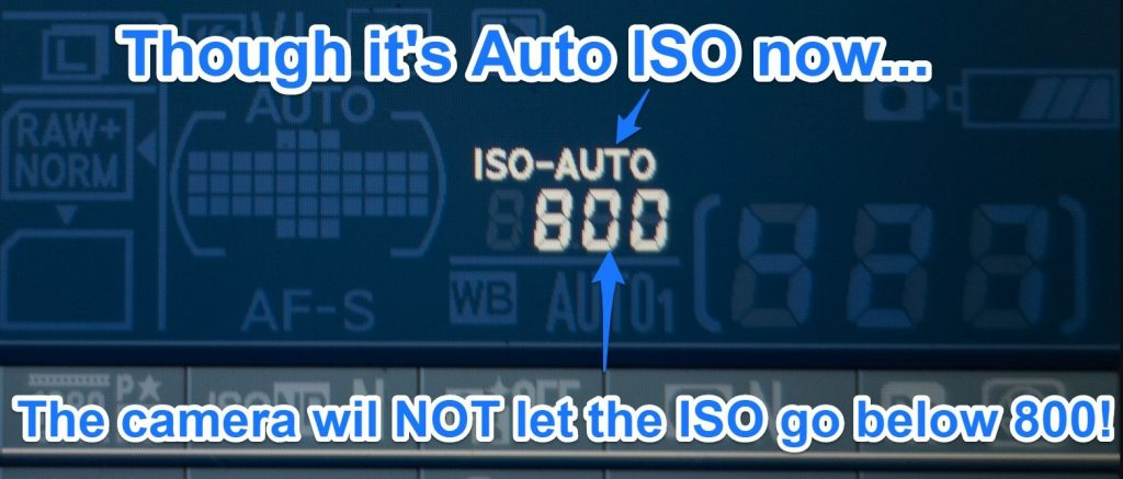 auto iso on nikon cameras iso range badly set