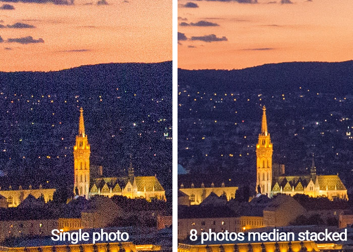 median stacking noise reduction before-after photoshop 700px