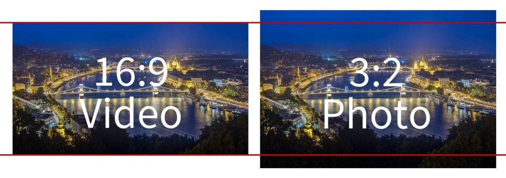 16 to 9 versus 3 to 2 aspect ratio photo video