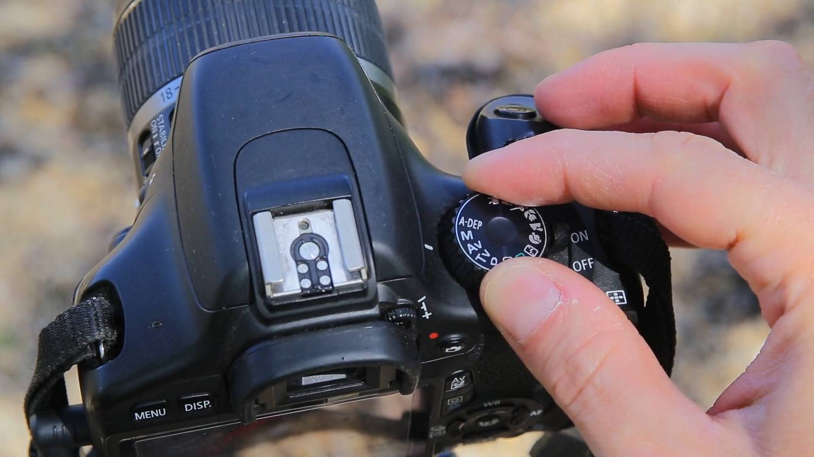 canon 550d in manual mode dial from top