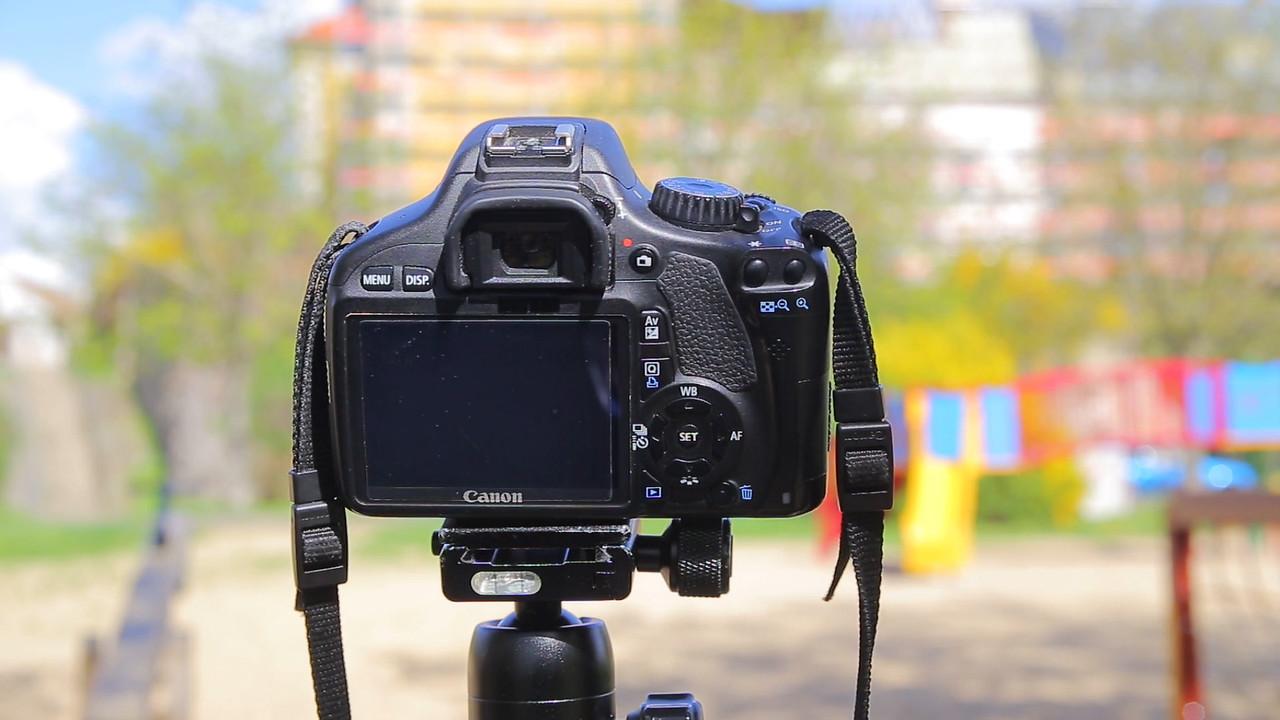 Canon camera on tripod
