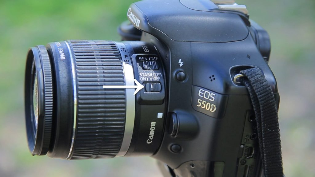 image stabilization turned off on canon when shooting on tripod