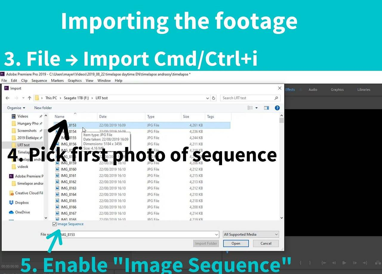 import jpg sequence into premiere pro