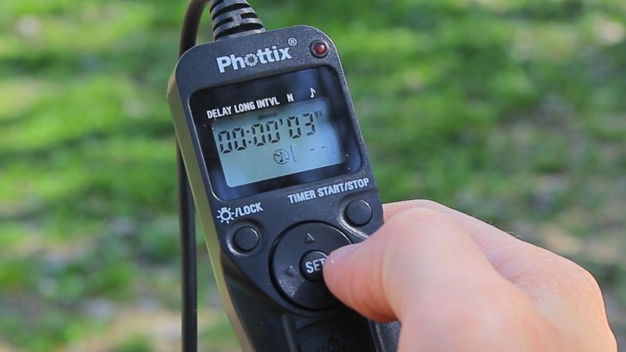 timelapse intervalometer 3 second interval setup
