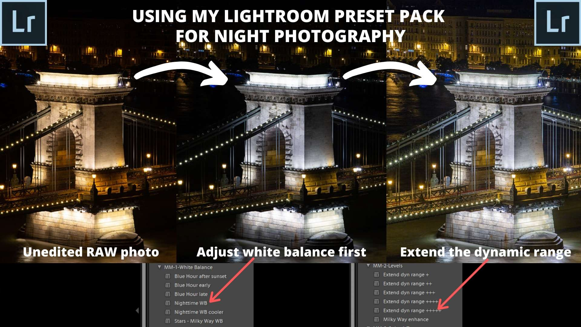 lightroom preset pack for night photography