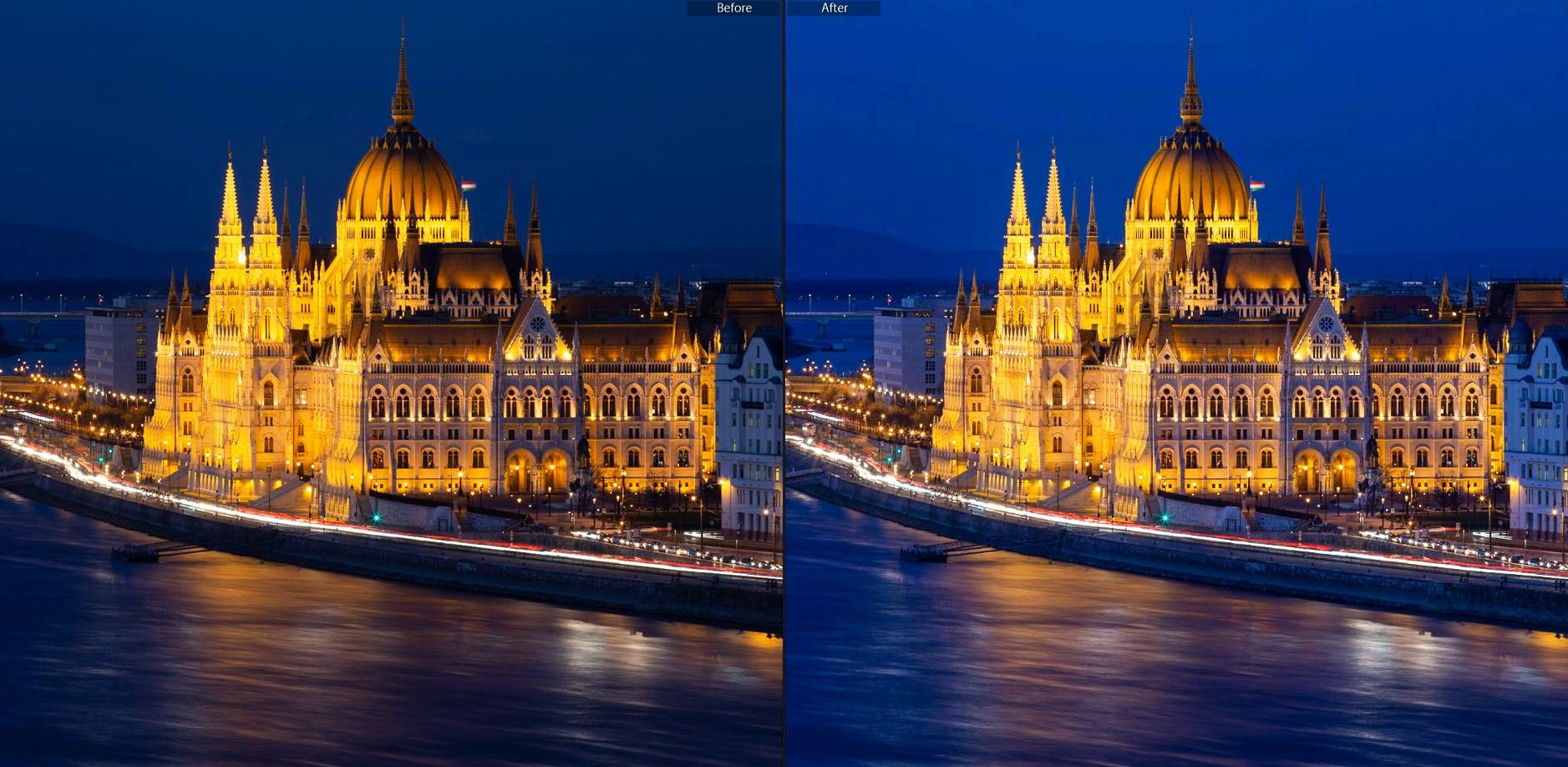 Blue Hour preset for Lightroom