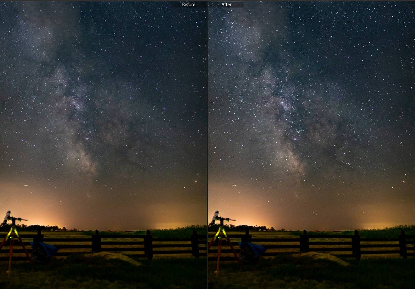 Milky Way enhancer Lightroom brush