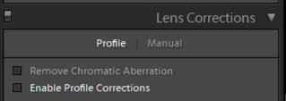 lightroom lens profile correction off