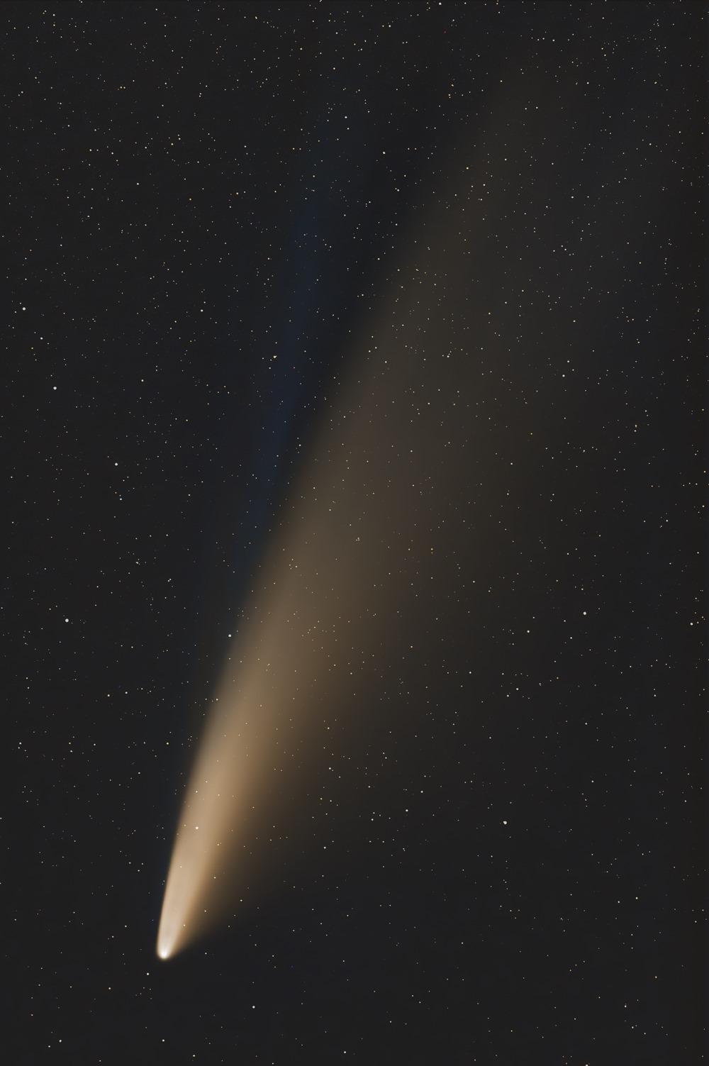 NEOWISE comet closeup Simon Wilson