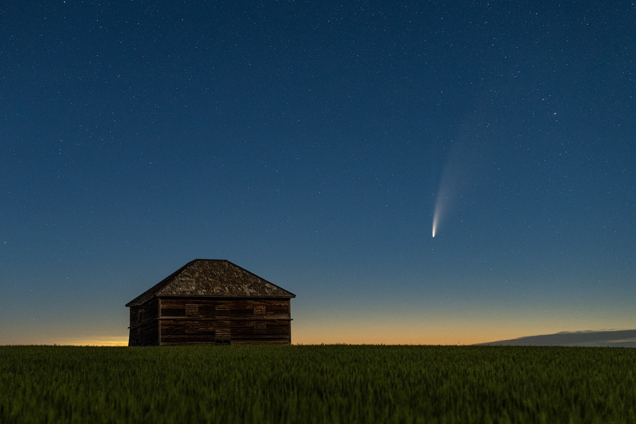 NEOWISE comet over northeast Montana by Cory Mottice