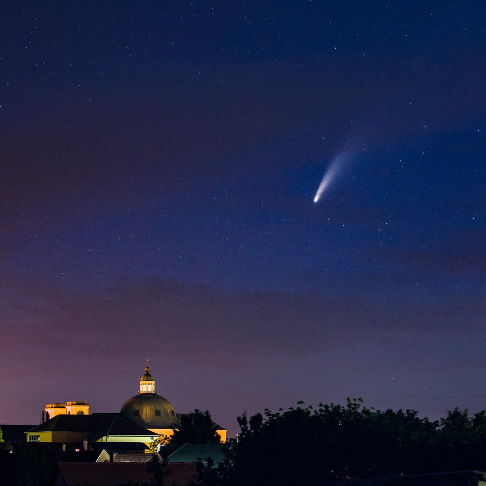 comet NEOWISE over Vác, Hungary